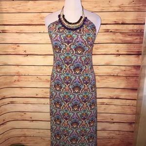NY Collection Paisley Jeweled Maxi Dress